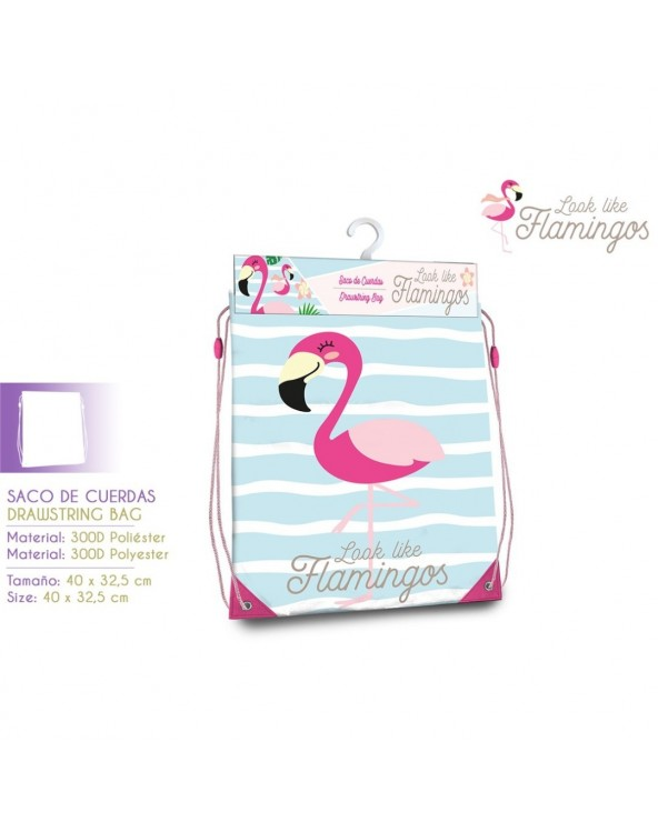 GYM BAG FLAMINGO 40X33 CM...