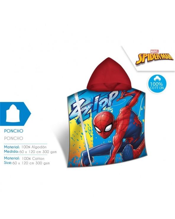 PONCHO 120X60 CM SPIDER-MAN